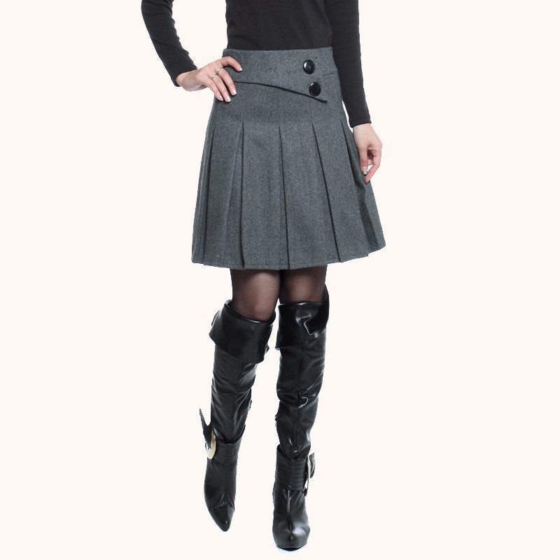 women-skirt-2015-winter-pleated-mini-office-skirts-2-colors-plus-size-4xl-KB824