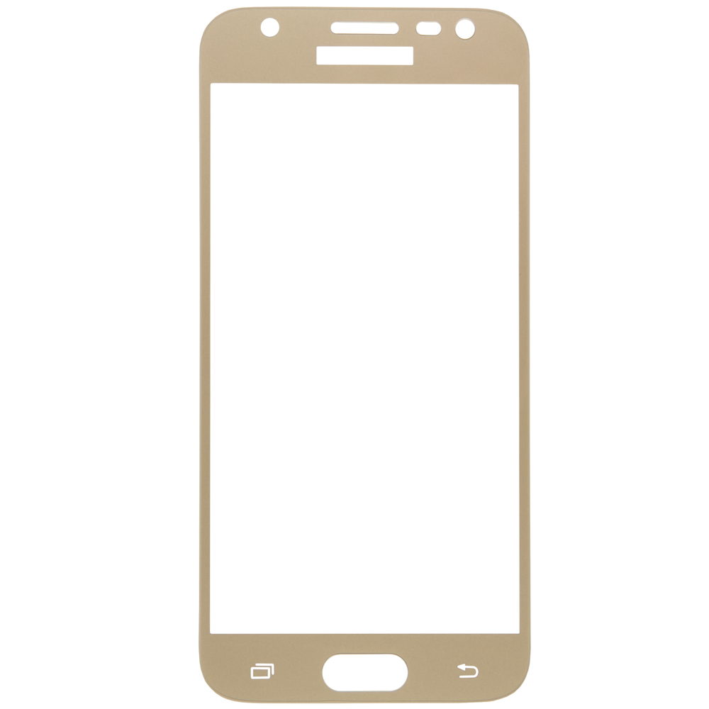 Protective glass Red Line for Samsung Galaxy J3 (2017) Full screen gold
