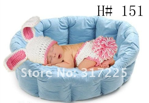 Cute Newborn Baby Boy Or Girl Crochet Bunny Hatdiaper Cover Lots Of