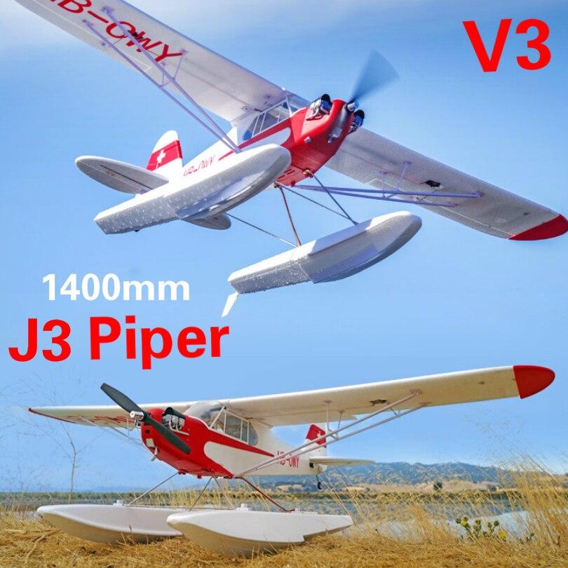 FMS J3 1400 мм EPO RC тренировочный самолет V3