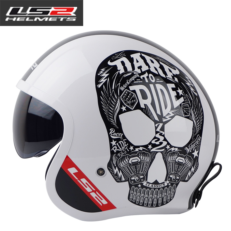 Genuine LS2 of599 open face retro motorcycle helmet vintage half face motorbike helmet men racing moto helmets DOT approved lovers juicy dot zeus zs 210c half face motorcycle helmet motorbike moto motocross helmets for women and men scoote dirt bike