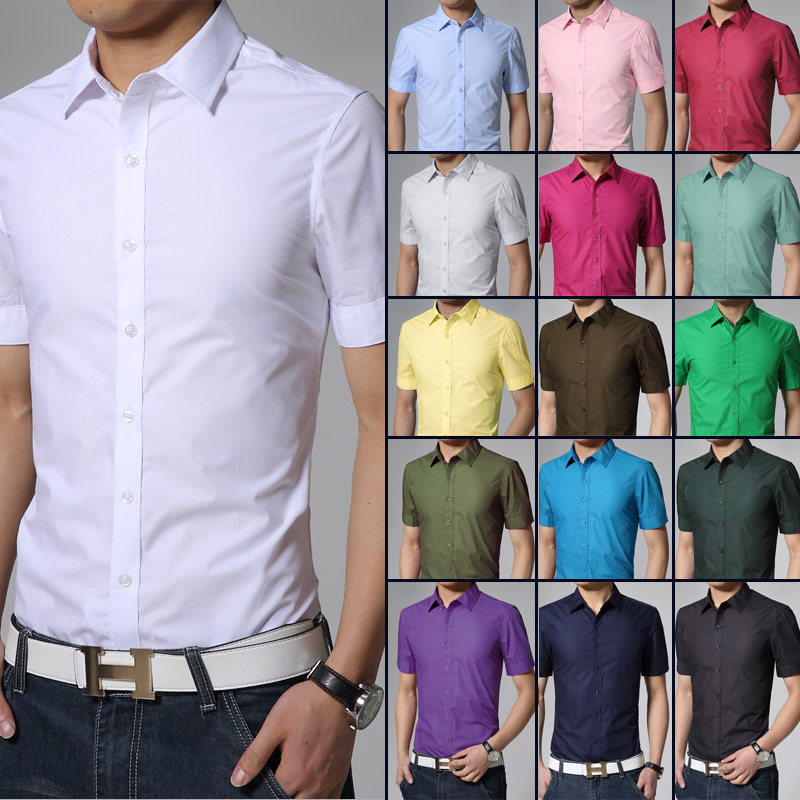 Short Sleeve Shirts Men 2017 New Arrived Brand Good Quality Solid ...