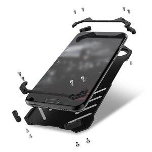 Image 2 - יוקרה באטמן Kickstand עמיד הלם מקרה עבור Huawei Honor 10 לייט אלומיניום פגוש עור שריון מתכת כריכה אחורית