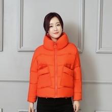 2016 Новый Плюс Размер Зимнее Пальто Женщин Короткая Куртка Пальто мода Куртка Женская одежда Хлопок Вниз Пальто Свободные Пальто 5 цвет