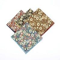 Men Vintage Cotton Flower Pocket Square Handkerchief Wedding Party Hanky BWTYF0133
