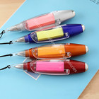 0.7mm with meno note LED light ballpoint creative lovely cute ballpoint pen stylus colorful option