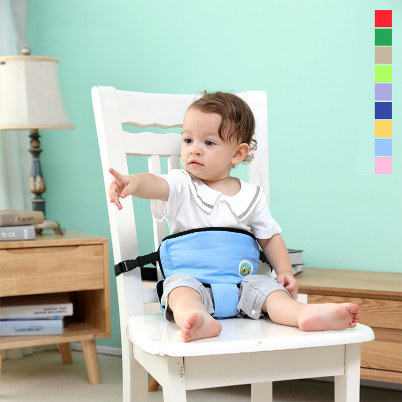 Baby Chair Portable Infant Seat Product Dining Lunch Chair/Seat Safety Belt Feeding High Sponge Filling Chair Harness Baby