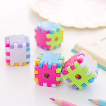 Pencil Sharpener Stationery Cute Small Cartoon Gift Mechanical 1pc Cube Children's Simple