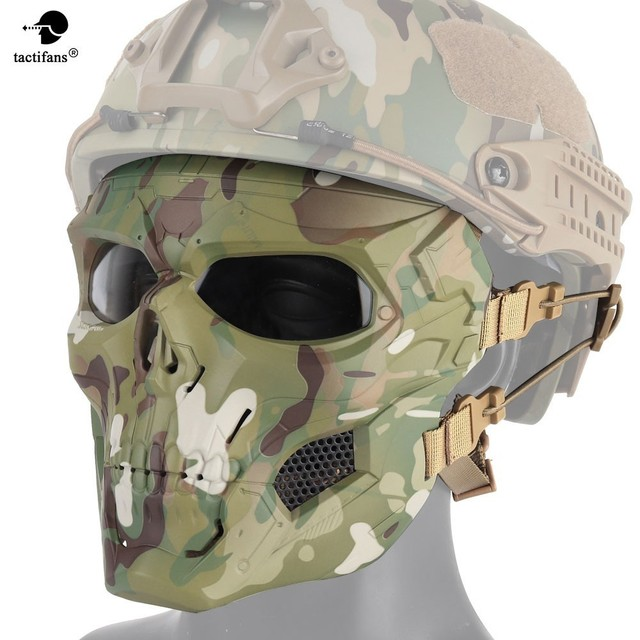 Tactical Hunting Shooting Equipment Gears Cloths Skull Messengers Unisex Full Protective Mask Helmet Head wear Accessories