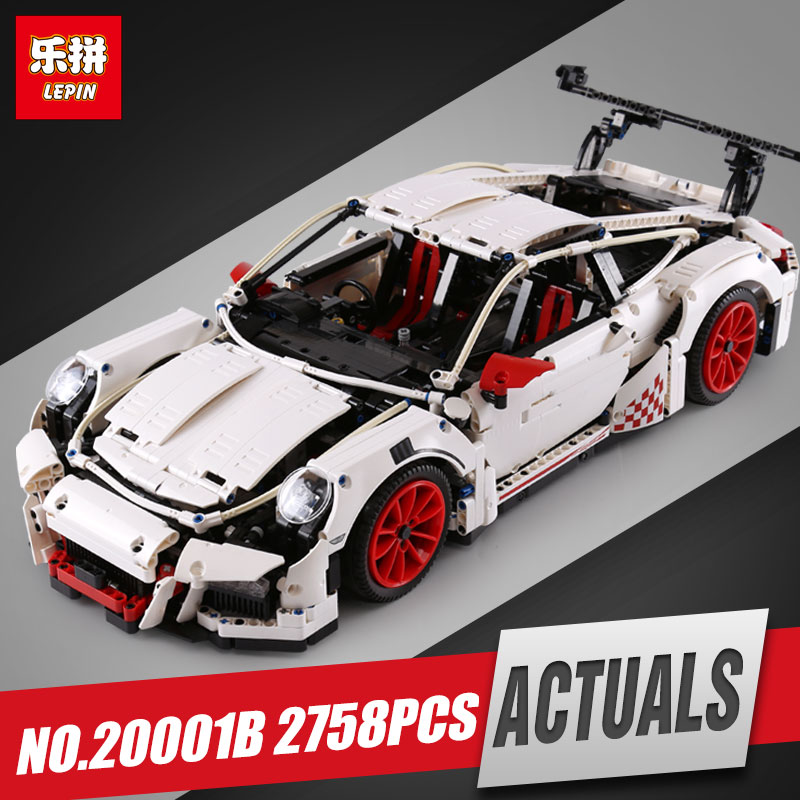 LEPIN 20001B technic series Race Car Model Building Kits Blocks Bricks Compatible legoed 42056 For children brithday Gifts lepin 21004 f40 sports car 1158pcs model building kits blocks bricks compatible legoinglys 10248 for children christmas gifts