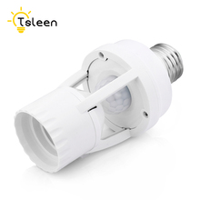 цена на High Sensitivity PIR Motion Sensor E27 LED lamp Base Holder 110V 220V With light Control Switch Infrared Induction Bulb Socket