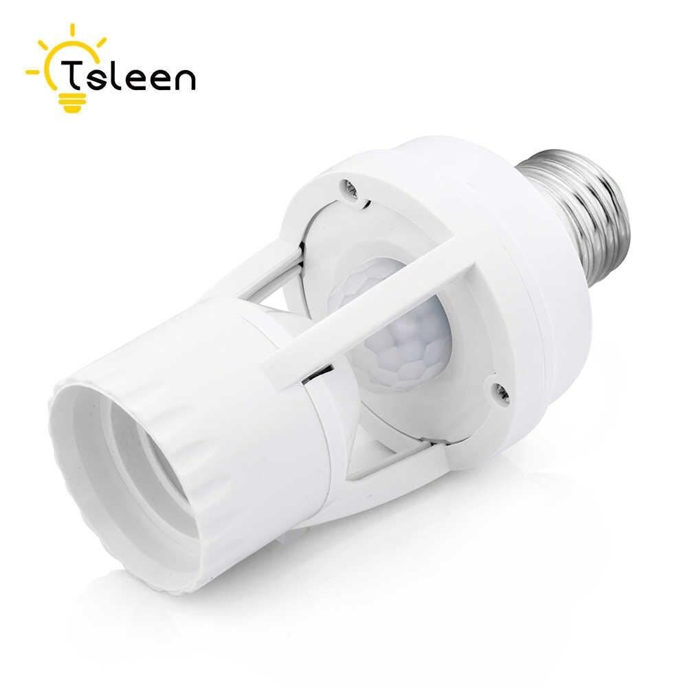 Sensor toma de para movimiento de de interruptor con base LED 110V de soporte Control luz PIR lámpara de de alta bombilla E27 220V sensibilidad nOk0XP8ZNw