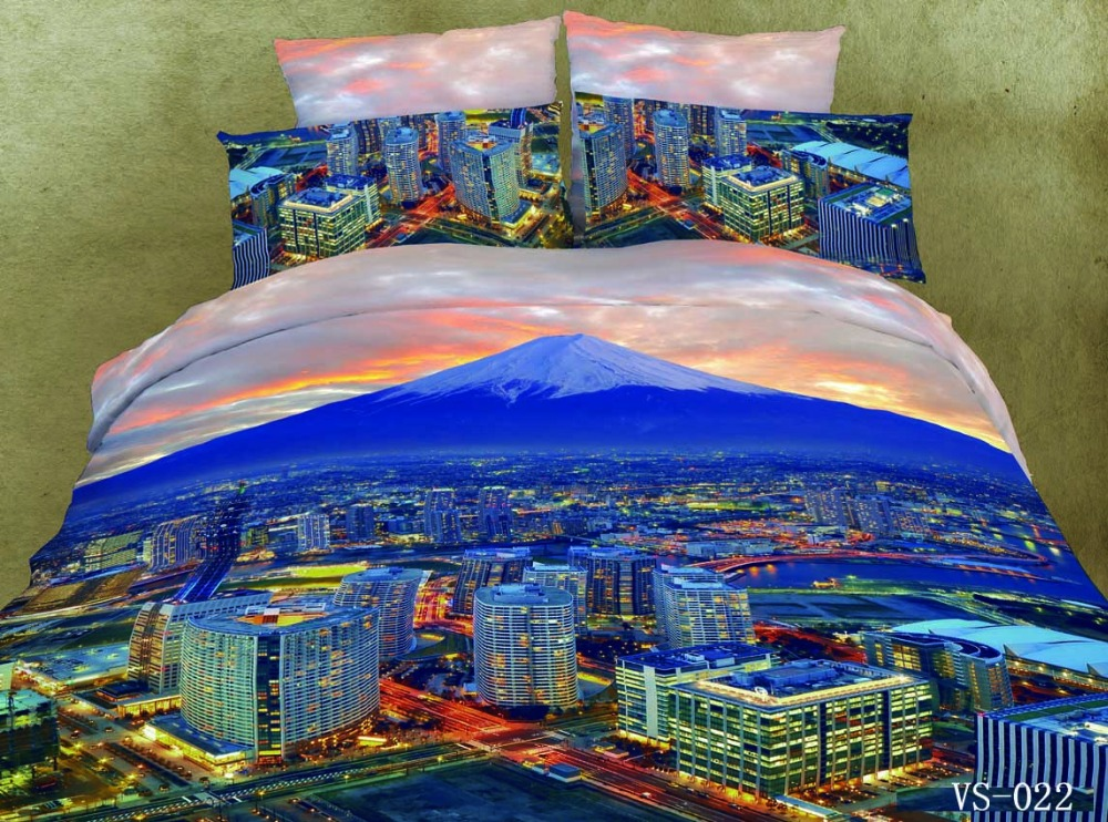 2017 Hot Sale Special Offer 7 Pcs 50 Beauty City Bedding