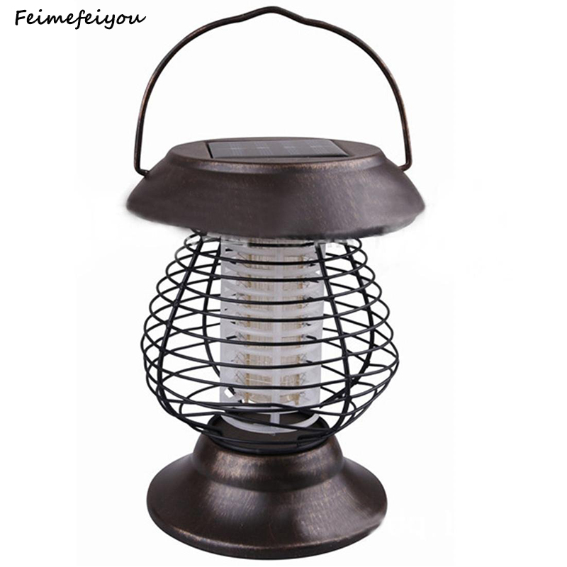 Feimefeiyou Electric Insect Repeller Mosquito Fly Bug Killer Solar Garden Light Lamp Outdoor Solar Anti-Mosquito Stake Light