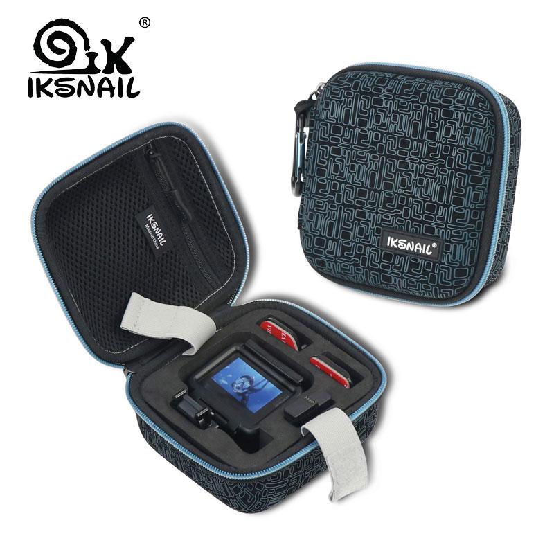 IKSNAIL Gopro accesorios de EVA de almacenamiento de protección llevar caso para Gopro héroe/5/6/7 en acción de la cámara de vídeo accesorios bolsas