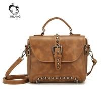 KUJING Women Handbags Luxury PU Women Bag Trend Retro Rivets Women Shoulder Messenger Bag Best Selling