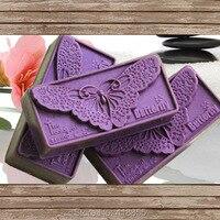 Animais molde de silicone handmade soap mold bonito padrão de borboleta praça soap making moldes de argila o molde de pedra aroma