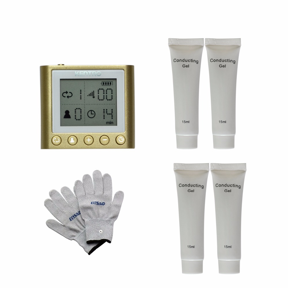 Magic Electronic pulse Healthcare TENS Massager LED Screen Rechargable Body Relax+1Pair Physiotherapy Gloves+4Pcs Conducting Gel