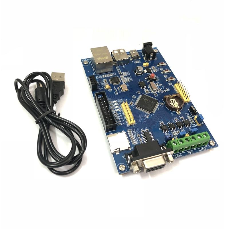 1 conjunto placa de desenvolvimento controle industrial stm32f407vet6 aprendizagem 485 duplo pode ethernet internet das coisas stm32 original