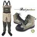 Mosca pesca vadear zapatos y pantalones Aqua zapatillas de deporte conjunto de ropa transpirable Rock deportes botas de fieltro botas suela de caza No- de pescado