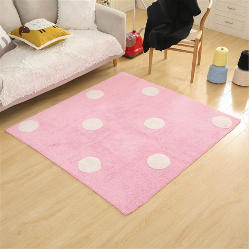 140X160cm Simple Creative Soft Cotton Carpets For Living Room Bedroom Rugs Home Carpet Delicate Hand Woven Area Rug Door Mat - 3