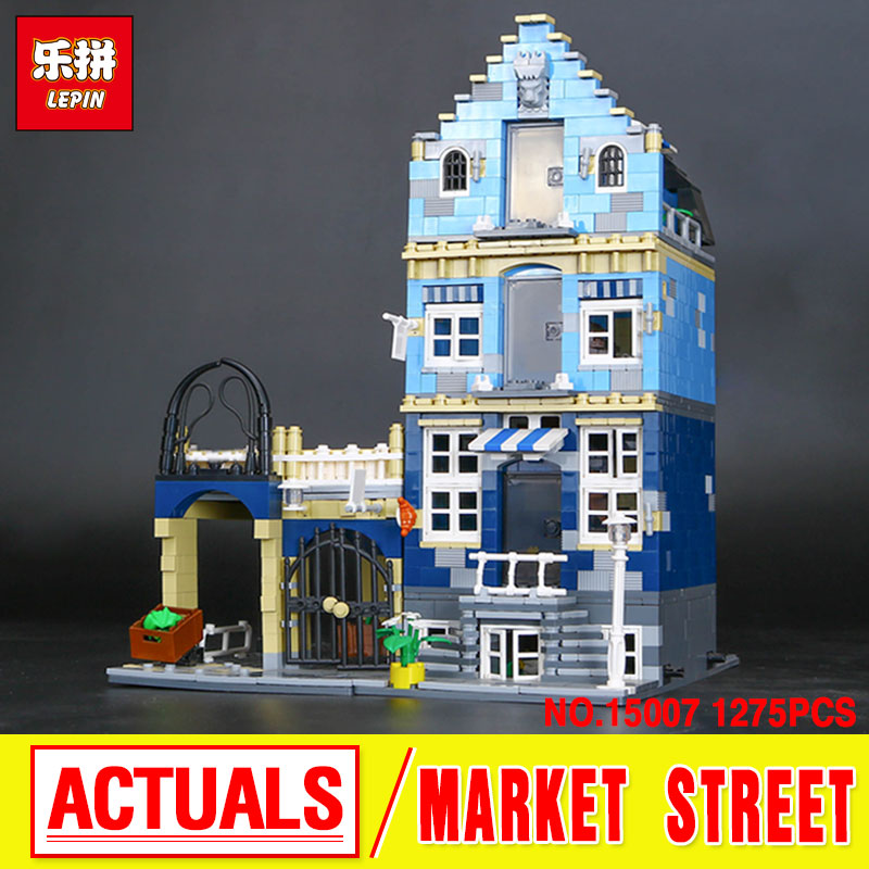 Lepin15007 Factory City Street European Market Model Building Block Set Assembling Brick Kits  Compatible 10190 Educational Toy  trendyangel 15007