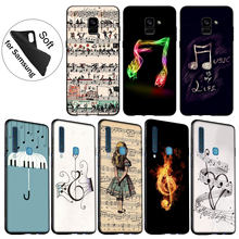 IYICAO Love Music Note Piano Paraplu Soft Silicone Case voor Samsung Galaxy A6 Plus A9 A8 A7 2018 A3 A5 2016 2017 Opmerking 9 8(China)