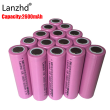 2PCS Real Full 2600MAH Capacity rechargeable 18650 Battery 3.7v rechargable Li-ion