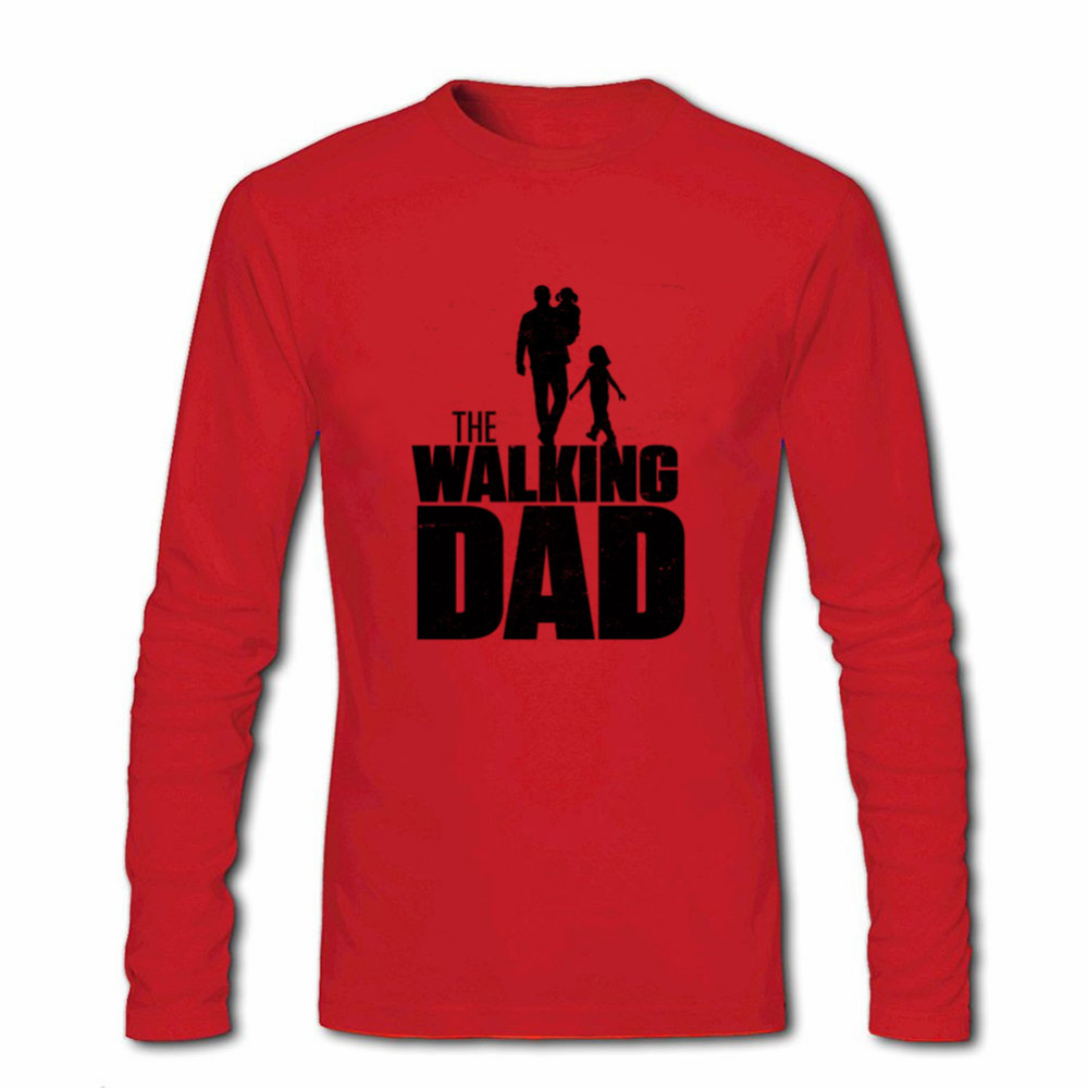 42b74b00b 2018 Men O neck Print Long Sleeve Custom Primer T Shirt Novelty Reggae The  Walking Dad T shirt For Men For Halloween male TSHIRT-in T-Shirts from Men's  ...