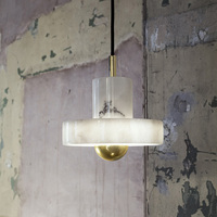 Fashion dinner pendent marble bedroom decoration lamp 110 265V AC White marble wall lamps simple desk lamps