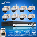 3TB HDD 8CH NVR Video Surveillance System Onvfi H.264 1080P HD 25fps Vandalproof Dome IR Wireless WIFI Network IP Camera 2MP