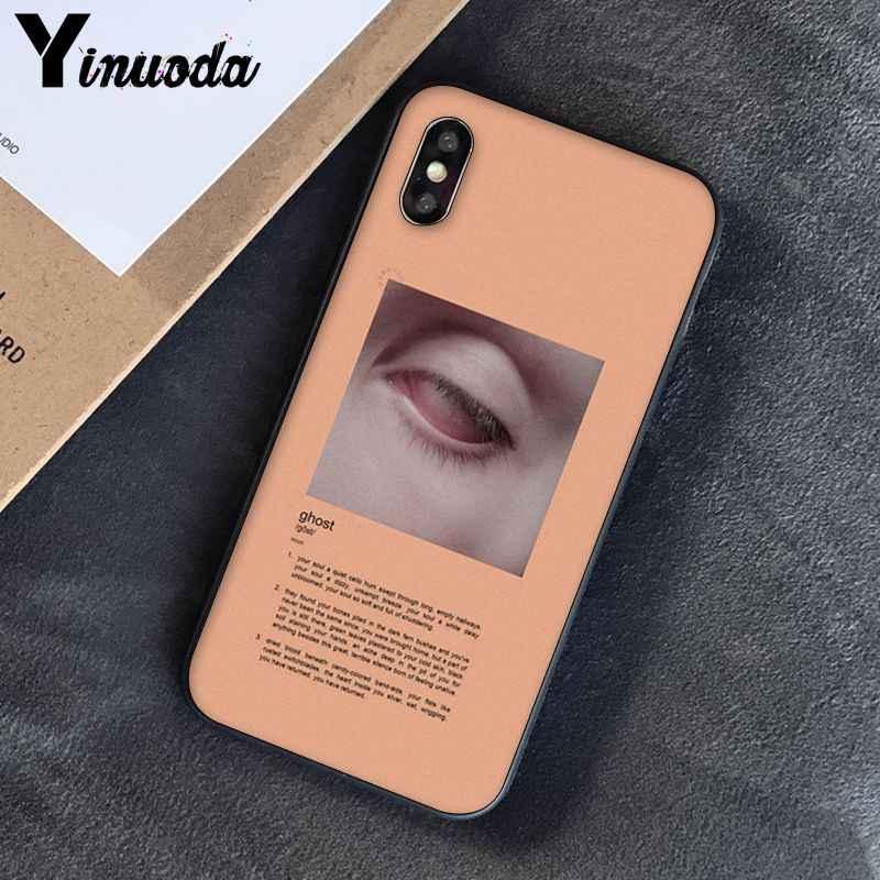Yinuoda สีชมพูสุนทรียศาสตร์เพลงเนื้อเพลงความงามซิลิโคนโทรศัพท์กรณีครอบคลุมสำหรับ iPhone 8 7 6 6S 6Plus X XS MAX 5 5S SE XR 10