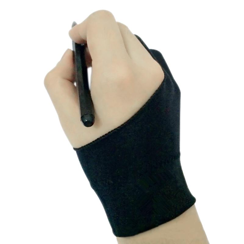 2 Fingers Drawing Glove Anti-fouling Graphics Digital ablet For Right+Left Hand