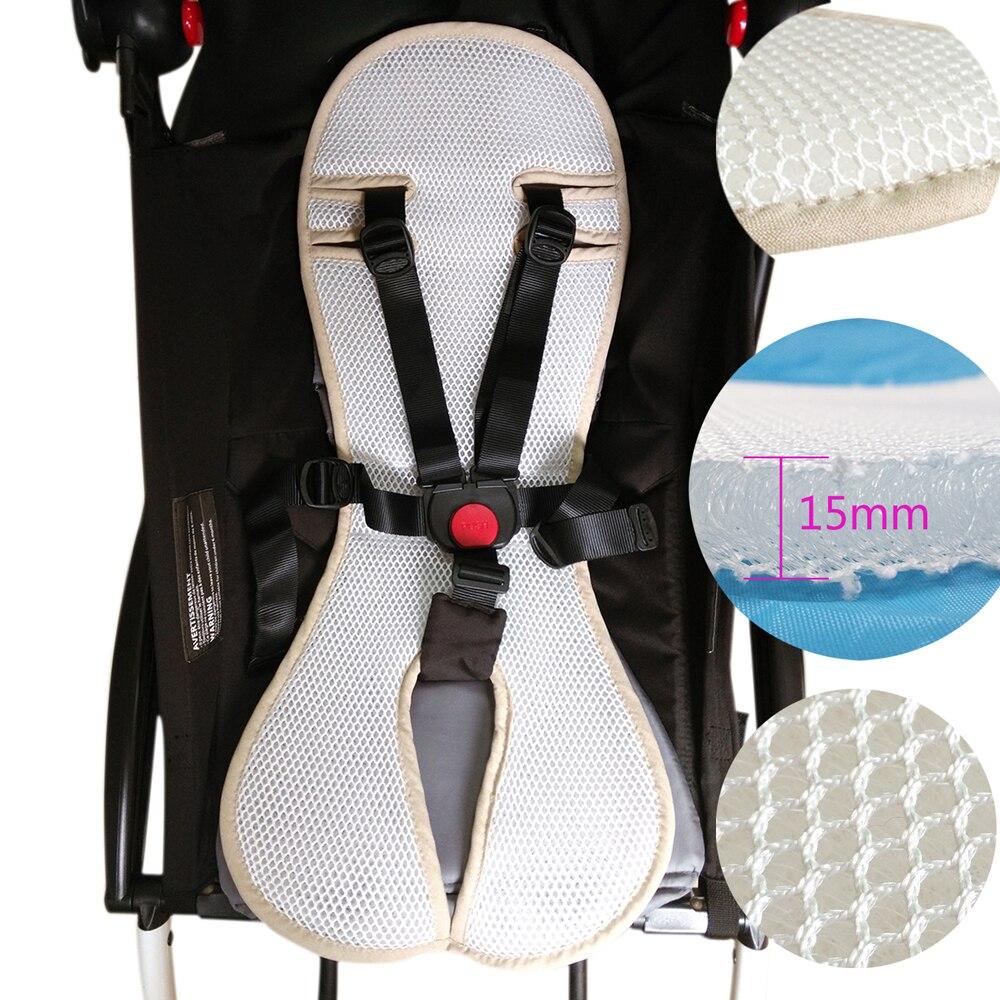 Landau bébé accessoire yoyo poussette pour babyzen 3D Mesh coussin de siège Yoya chariot housse de siège Pad respirant 90% landau peut utiliser