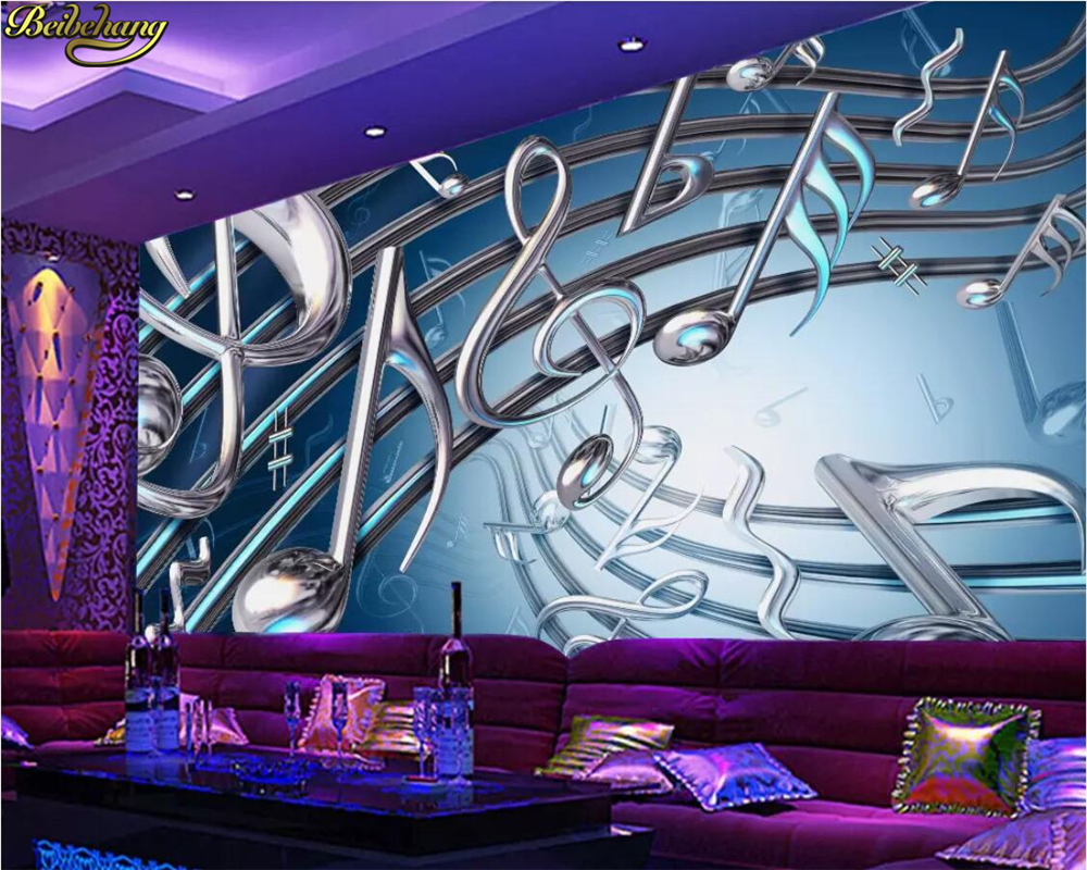 US $9 0 40% OFF|beibehang Custom photo wallpaper mural dynamic metal music  carnival bar KTV background wall papers home decor papel de parede-in