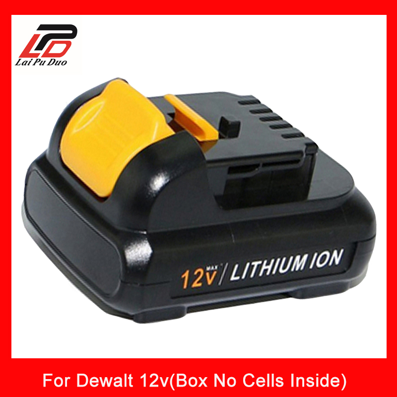 for Dewalt 12v Li-Ion Rechargeable Battery case Plastic Shell( Box No Cells Inside)