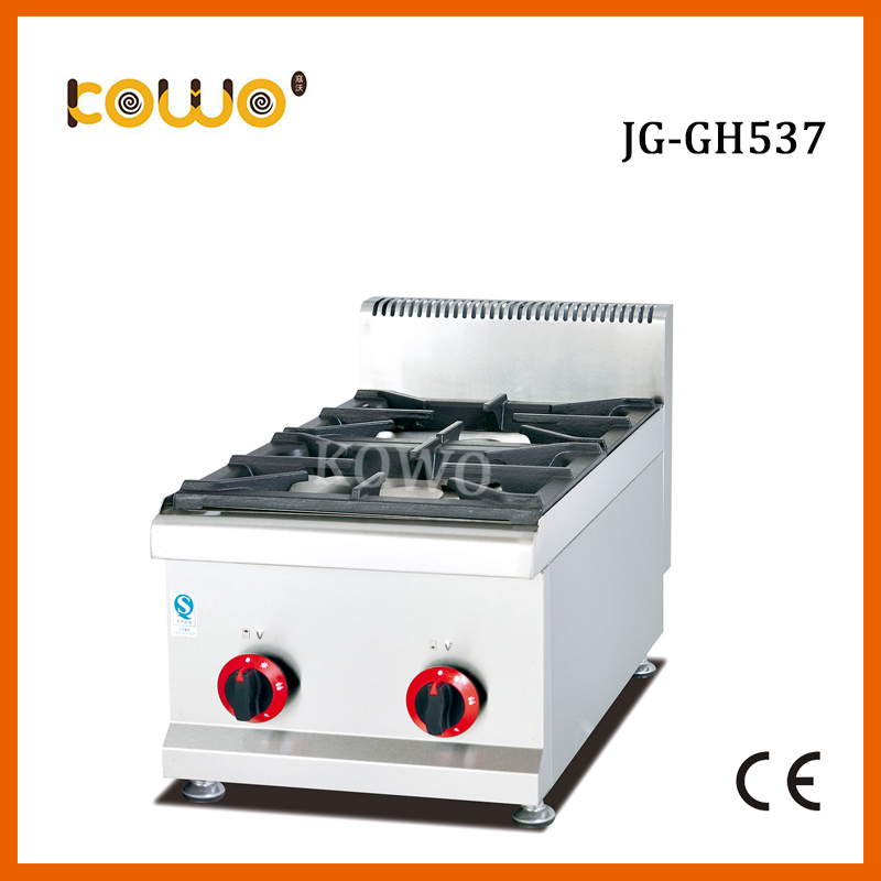commercial stainless steel 2 burner lpg gas stove table top gas cooker kitchen appliances gh2 gas range with 2 burner for commercial use