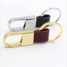 2PCS Auto Car Keychain Fashion Black Leather Key Rings Gift  Mens Gold And Silver Holder Accessories