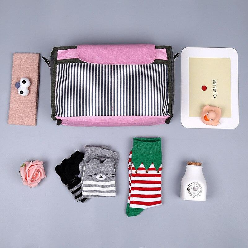Baby Stroller Bag Reusable Waterproof Travel Nursing Bag Fashion Print Hanging Carriage Portable Baby Diapers Bag