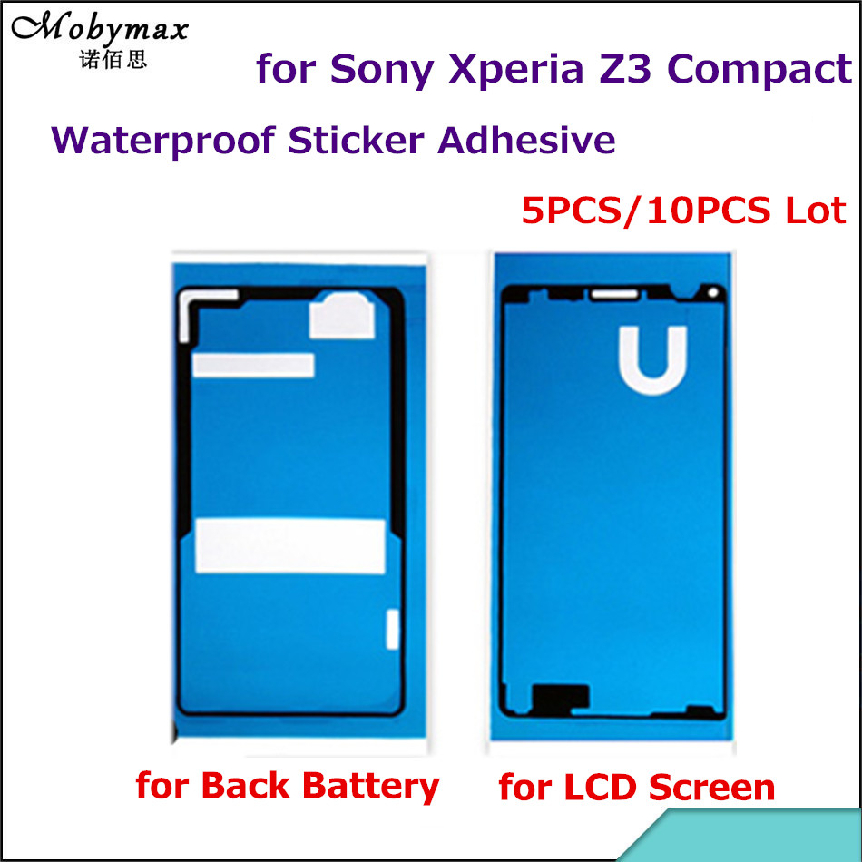 5PCS/10PCS for Sony Xperia Z3 Compact Mini D5803 D5833 Front LCD Frame +Back Battery Cover Waterproof Sticker Adhesive Glue Tape