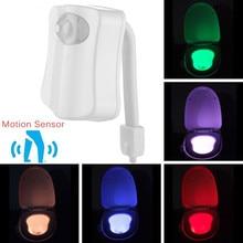 MINI Toilet Light LED Night Light Motion Sensor Seat Lamp Luminaria 8 Color Changing Auto RGB PIR Human Waterproof For Bathroom
