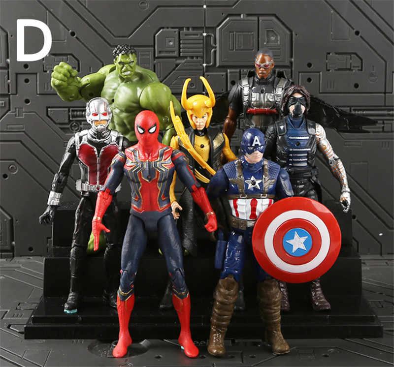 Mới Nóng Salemarvel 21 Cái/bộ Avengers Hình Siêu Anh Hùng Siêu Nhân BatMan Hulk Đội Trưởng Mỹ Thor Người Sắt Nhựa PVC