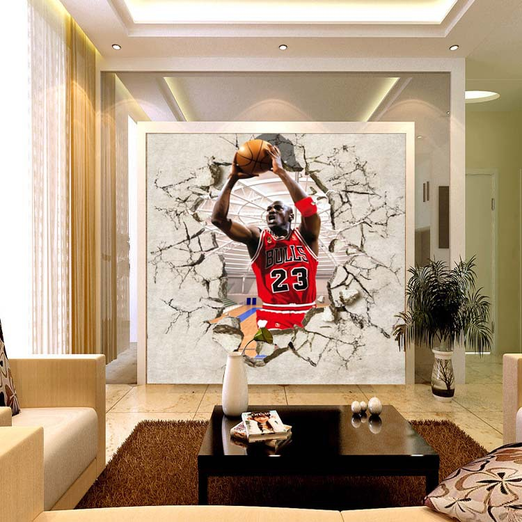 ... Basketball Star Michael Jordan Gym Entrance Background Wallpaper  Bedroom Large Mural Wallpaper Mural ... Part 93