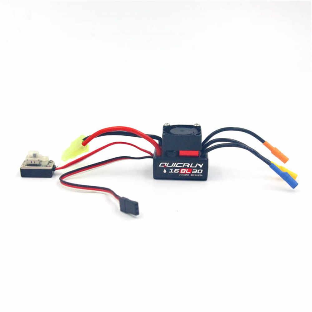 QuicRun WP-16BL30 sin escobillas impermeable 30A sensor ESC para 1/16 de 1/18 Rc coche n° 30110000