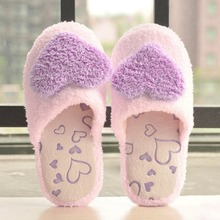 3 цвета Творческий Дизайн женщин Домашние Тапочки женские домашние Применение indoor с хлопковой подкладкой для девочек сердце украшения тёплая женская обувь подошва
