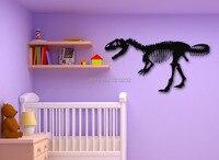 New Fashion Animal Vinyl Wall Decal Dinosaur Skeleton Wall Sticker For Children Baby Room Nursery Home Bedroom Decoration