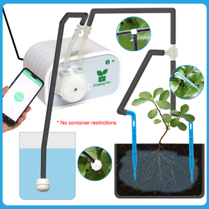 Image 4 - Mobile Phone Control Intelligent Garden Automatic Watering Device Succulents Plant Drip Irrigation Tool Water Pump Timer System
