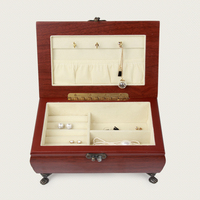 Portable Wood Jewelry Ring Earring Insert Display Cufflinks Organizer Box Wooden Jewelry Holder Storage Showcase