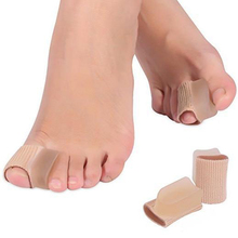 2Pcs Soft Silicone Gel Tube Toe Separators Spacers Alignment Bunion Pain Relief Tools Finger Protector Foot Care Tool