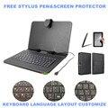 """3-в-1 стилус + пленка + клавиатура для Asus Zenpad 7.0 Z370CG / Zenpad C 7.0 Z170CG 7 """" планшет микро-usb-клавиатура искусственная кожа чехол крышка"""